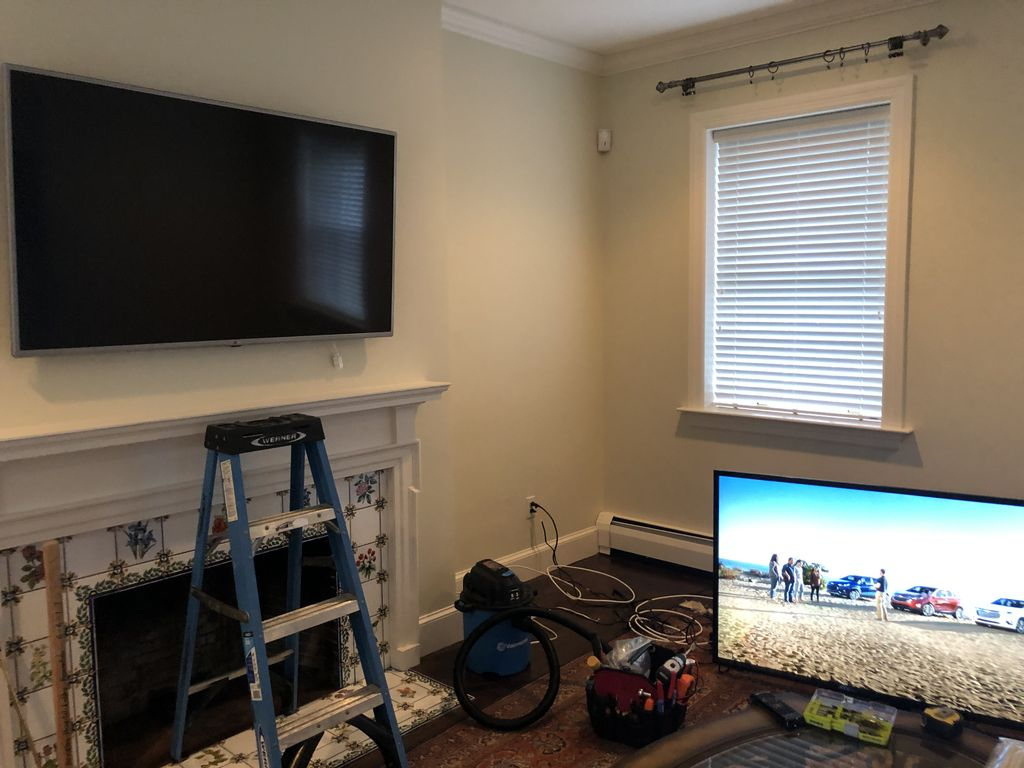 4K security & TV project in mansion