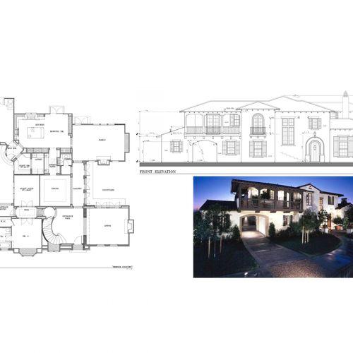 3,500 s.f. custom 2-story residence