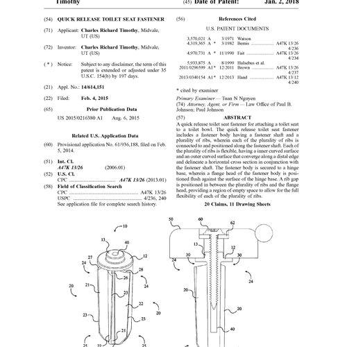 U.S. Patent No. 9,854,950