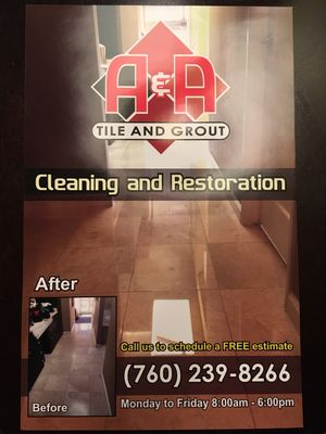 Avatar for A&A TILE AND GROUT CLEANING AND RESTORATION Escondido, CA Thumbtack