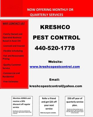 Avatar for Kreshco pest control Avon, OH Thumbtack