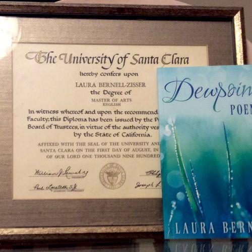 Master's Diploma, and my book