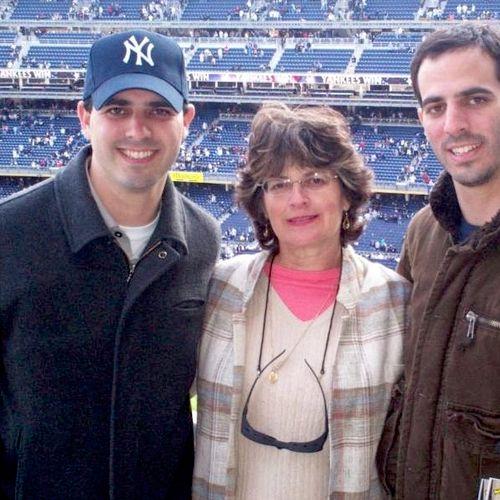 Twin sons & Me, Yankee Stadium