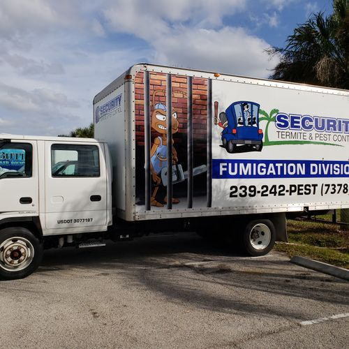 Our newest fumigation truck. Lookout termites