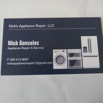 Avatar for Nick's Appliance Repair L.L.C.