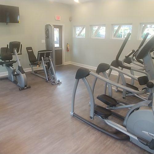 Apartment gym.