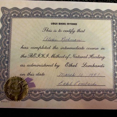 Reiki 2 certification