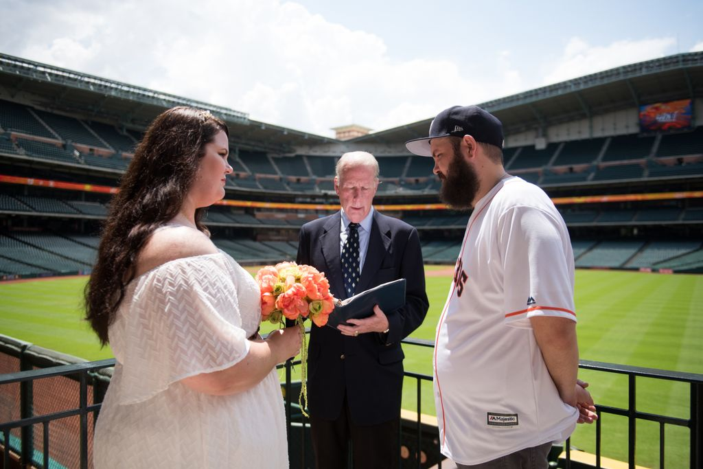 Wedding at Astros' Game