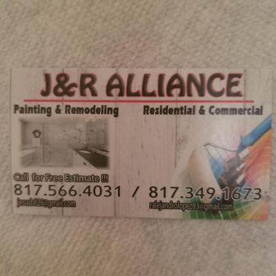 Avatar for J & R Alliance Painting and Remodeling Fort Worth, TX Thumbtack