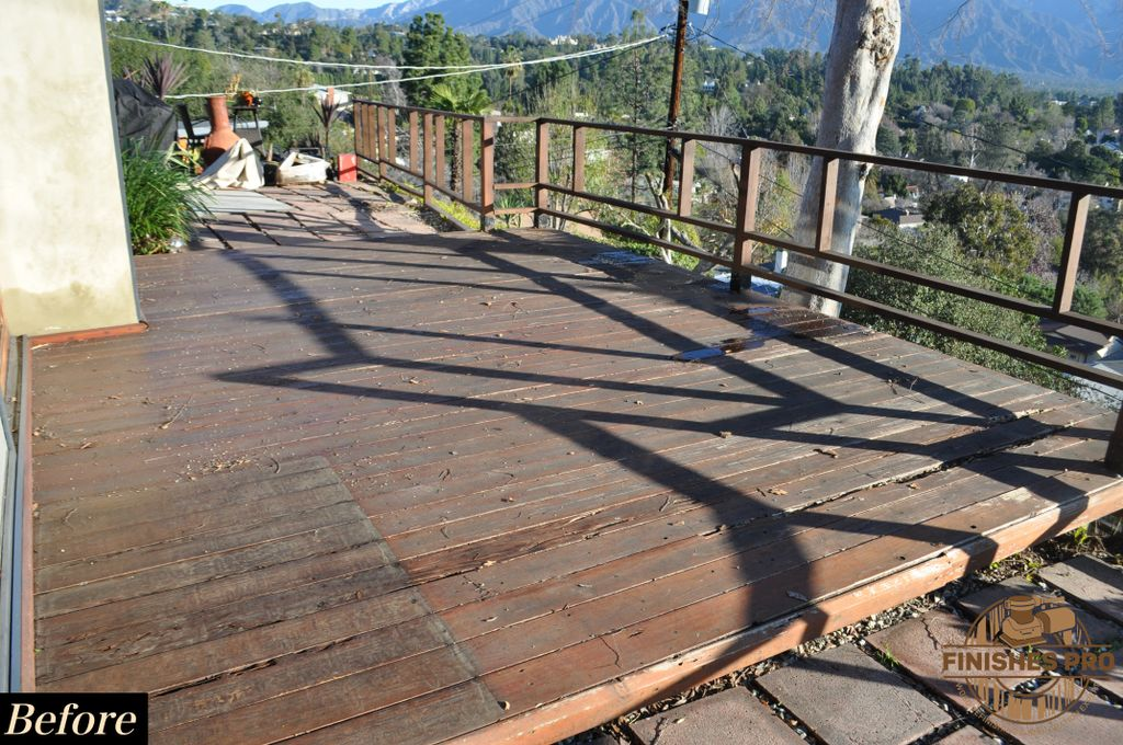 Deck Repair and Railing Refinishing