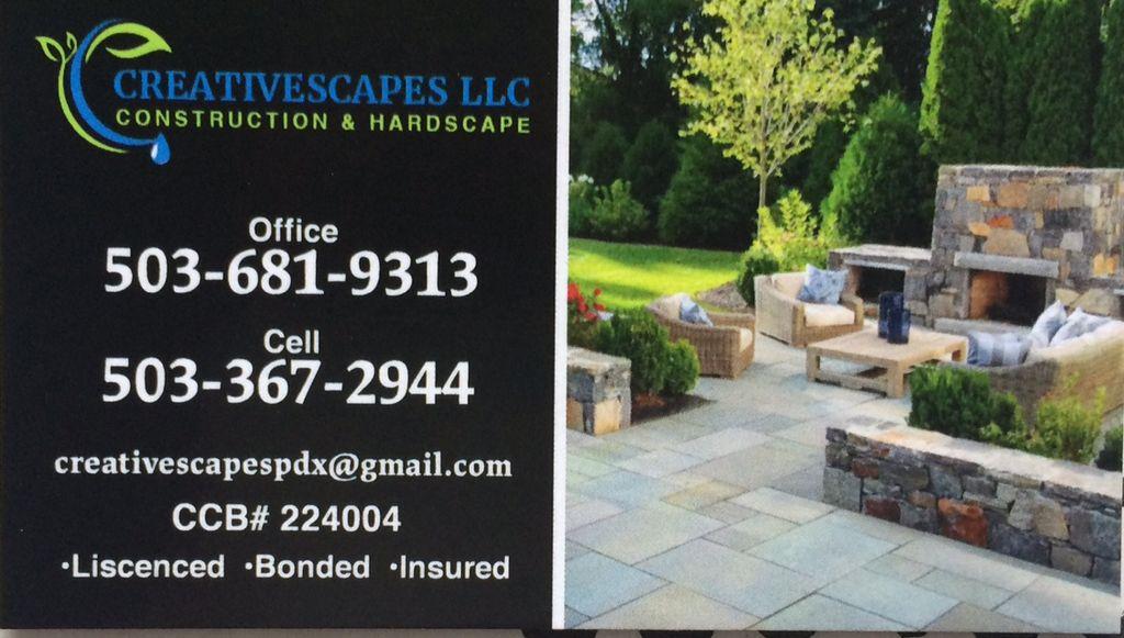 Creativescapes LLC construction & hardscape