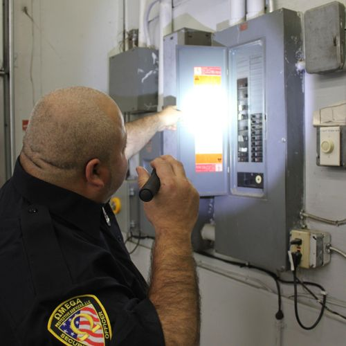 Our officer responding to a concern of a tempered panel