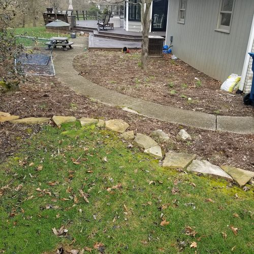 Landscape clean up before picture