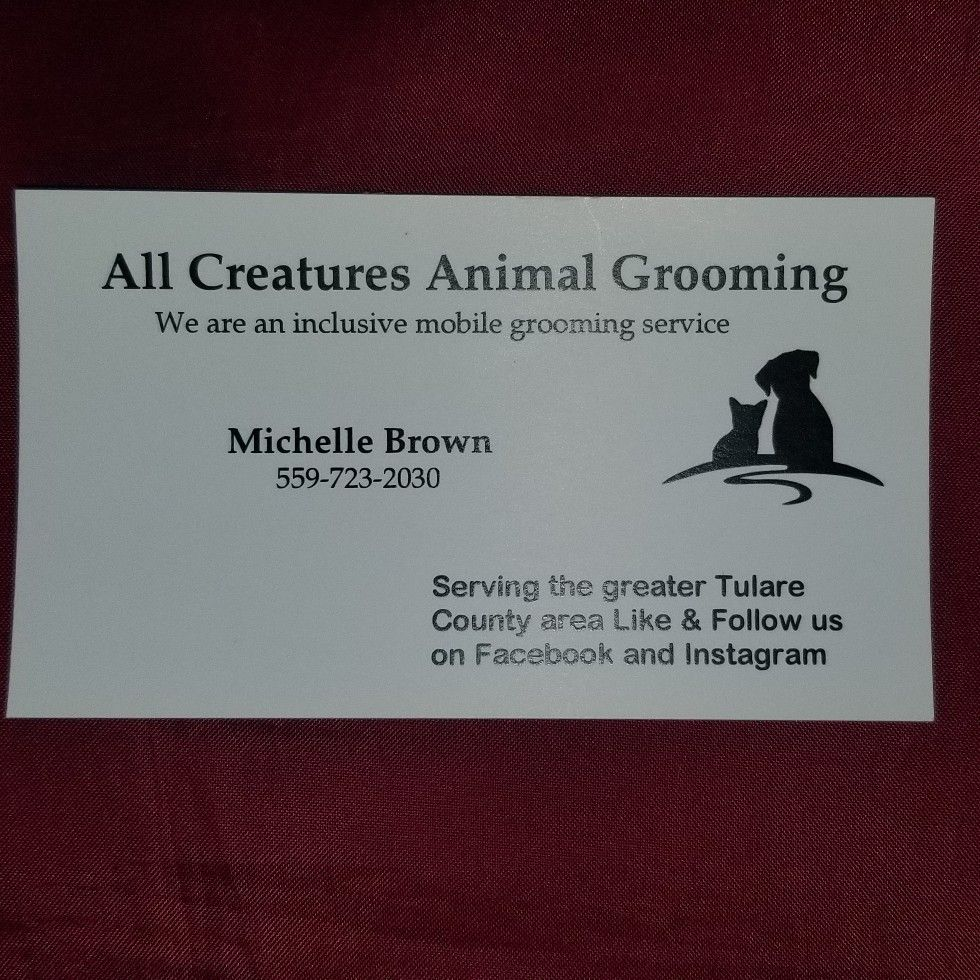"All Creatures Animal Grooming   ""mobile service"""