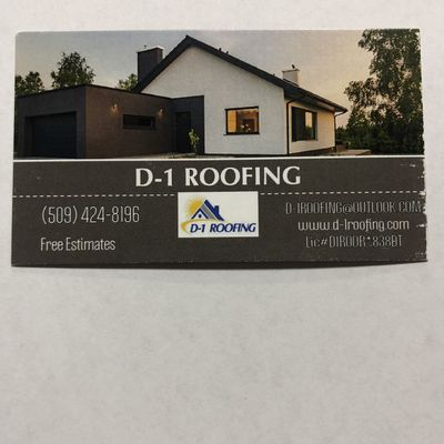 Avatar for D-1 Roofing LLC Yakima, WA Thumbtack