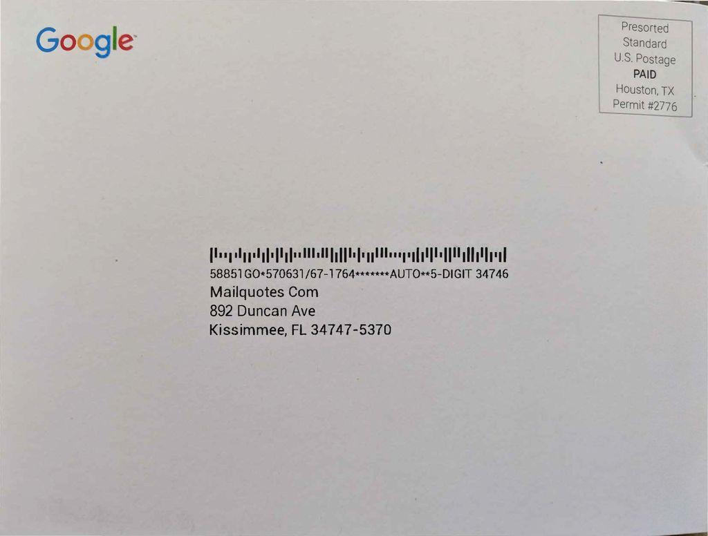 Google Direct Mail