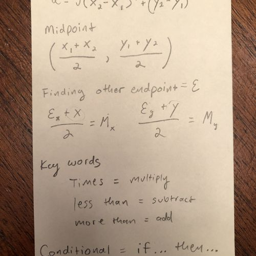Helping a student with formulas