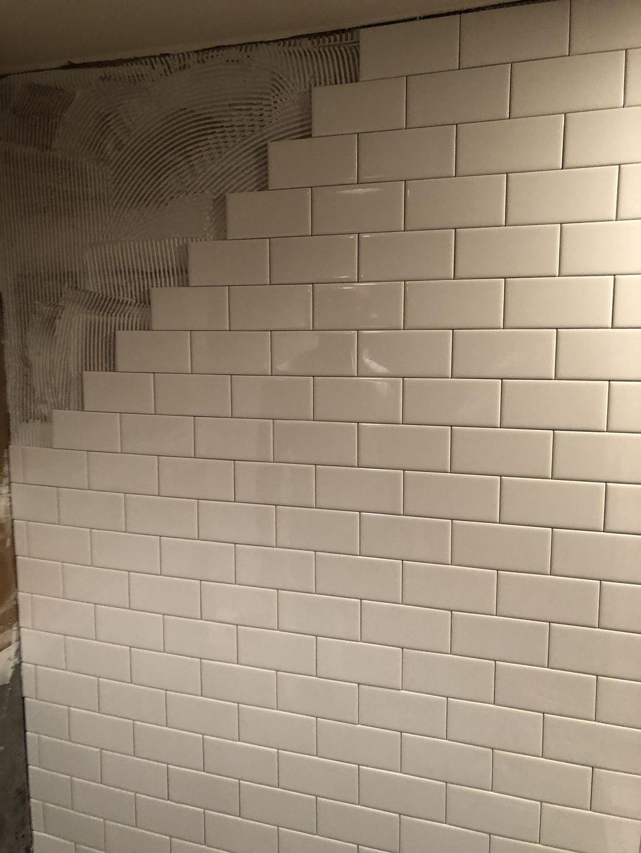 Mold remediation shower remodel