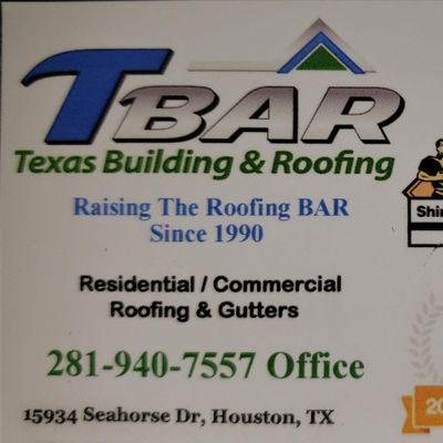 Avatar for TBAR - Texas Building & Roofing