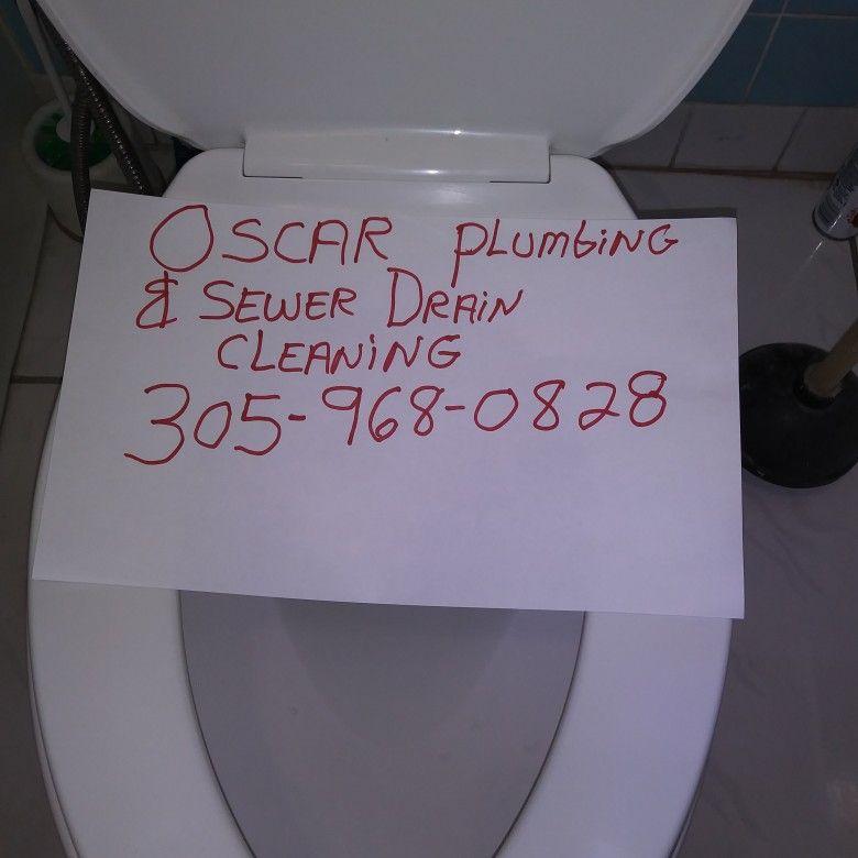 Oscar plumbing &sewer drain clog.