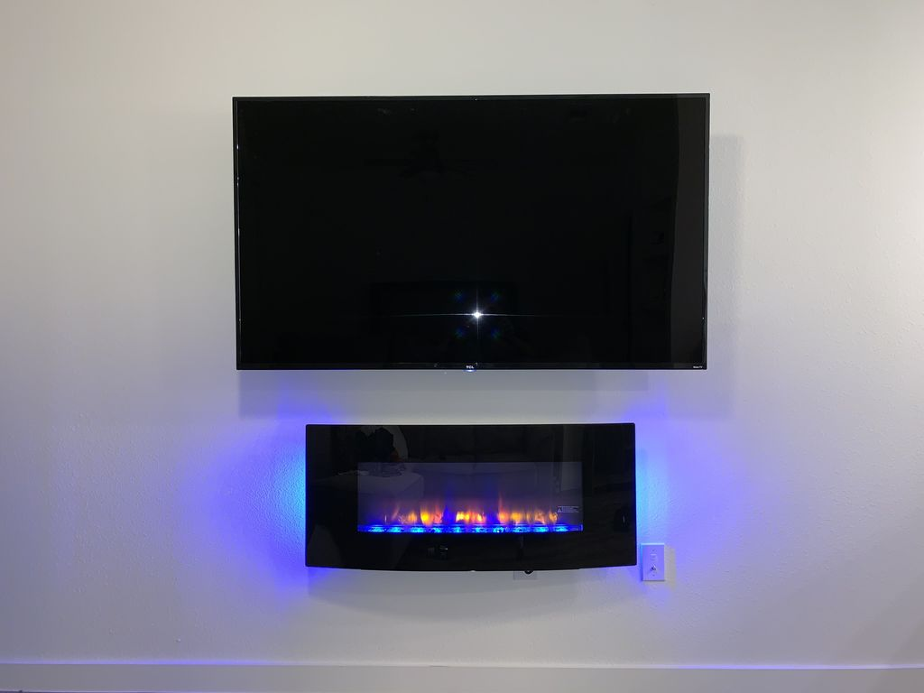 Mount TV and Electric Fireplace