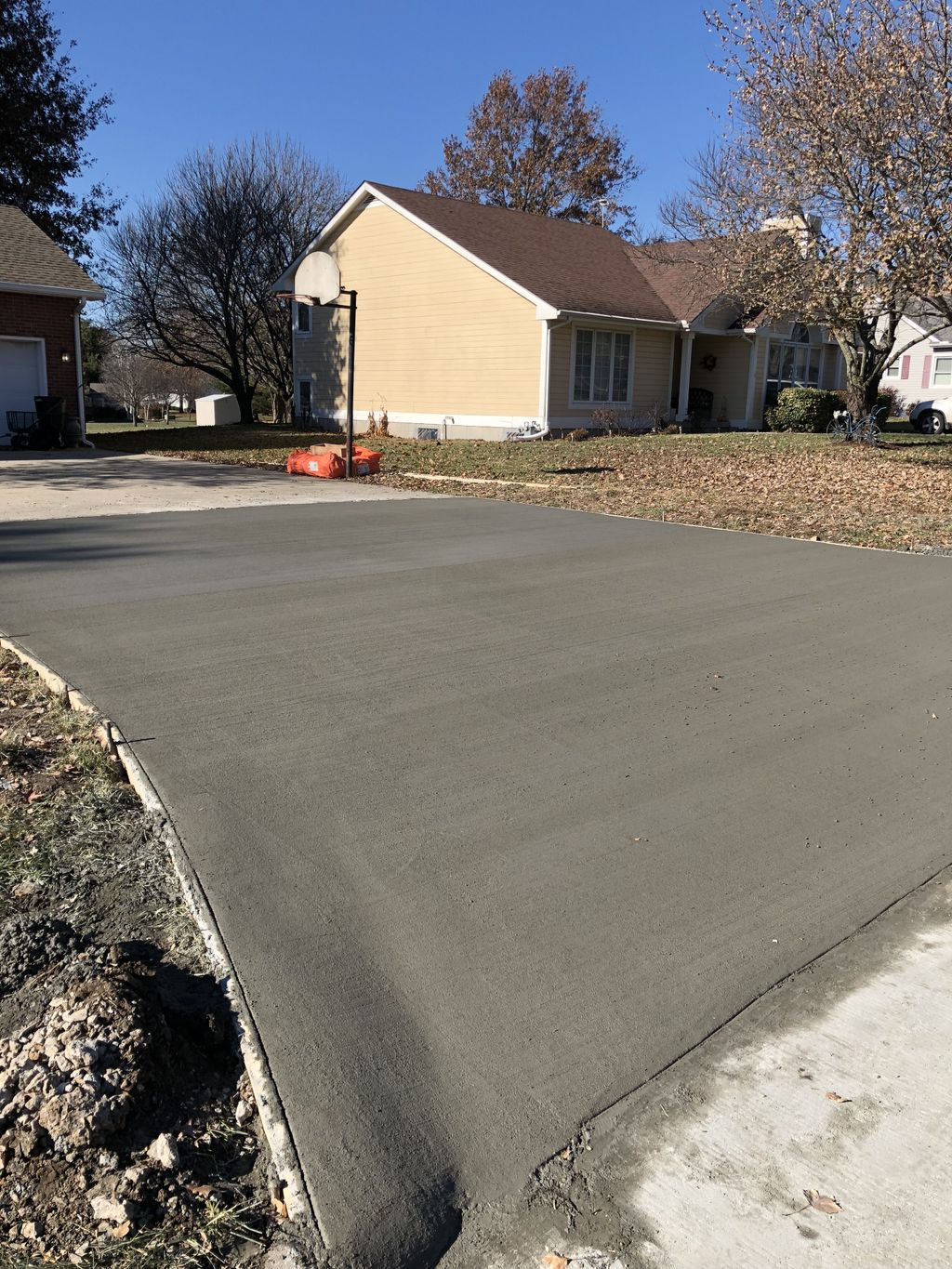Replaced drive way approach
