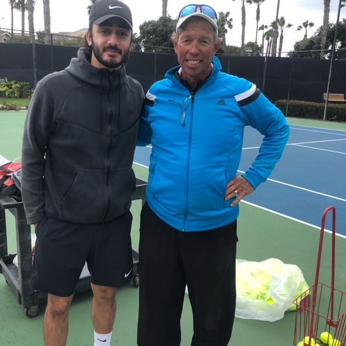 Always a pleasure seeing Mike. A true pioneer of high quality tennis coaching in the US and worldwide.
