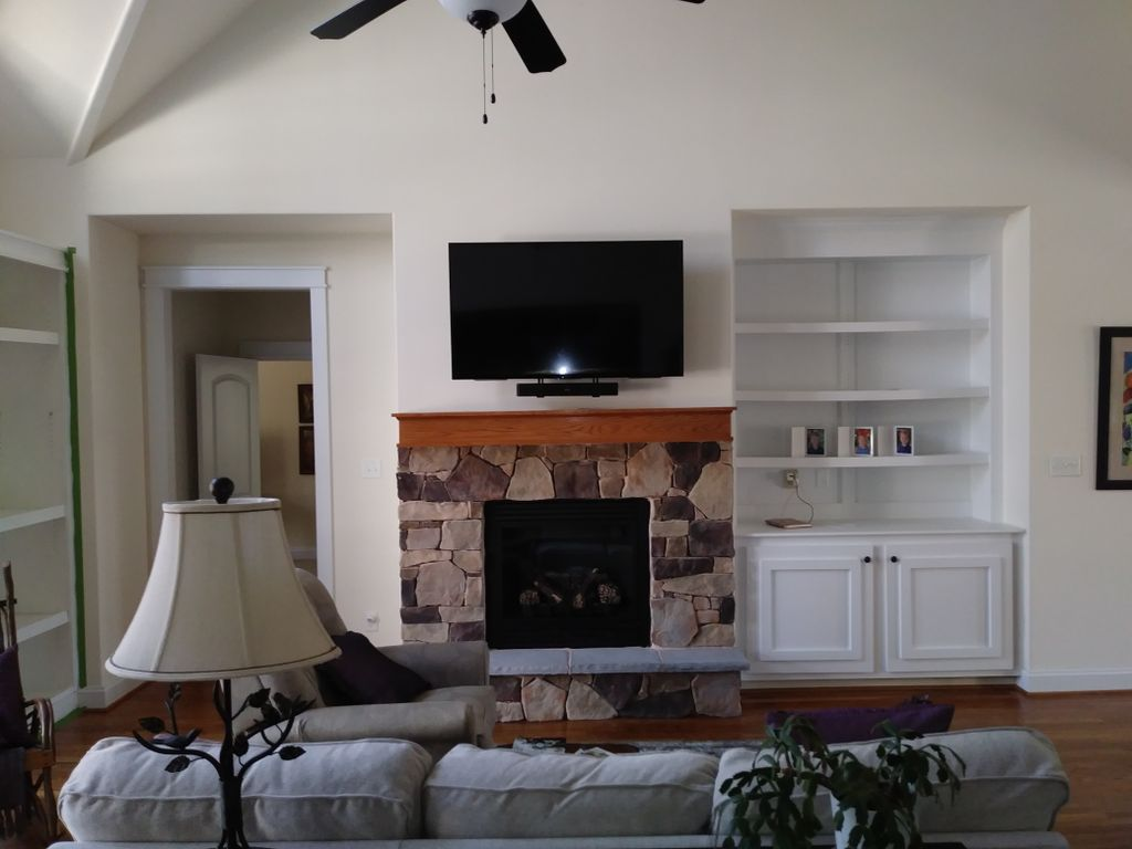 Fire Place Television Install