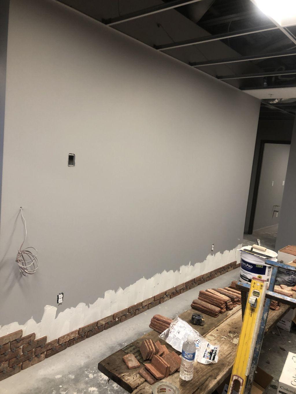 Thinbrick Wall in Office