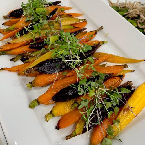 Miso / mirin glazed carrots