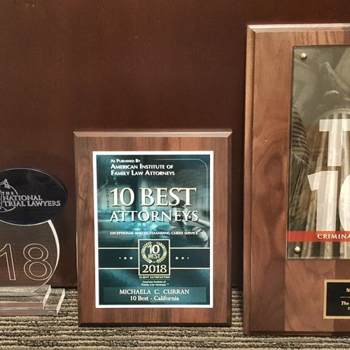 Numerous State & National Attorney Awards