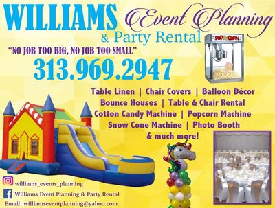 Avatar for Williams Event Planning & Party Rentals Westland, MI Thumbtack