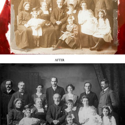 Photo restoration. Before and After.