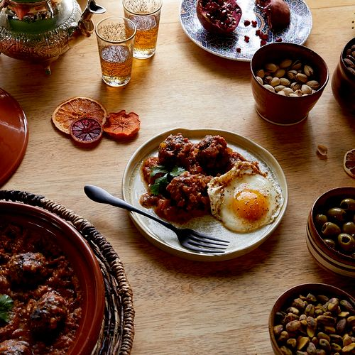 Moroccan kefta meatballs