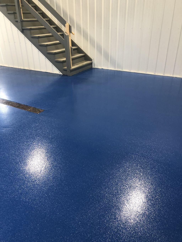 Safety blue coating system