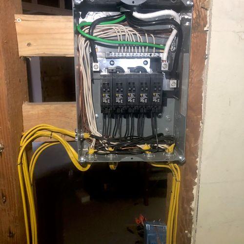 Sub panel upgrade