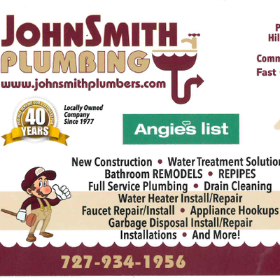 Avatar for JohnSmith Plumbing Tarpon Springs, FL Thumbtack