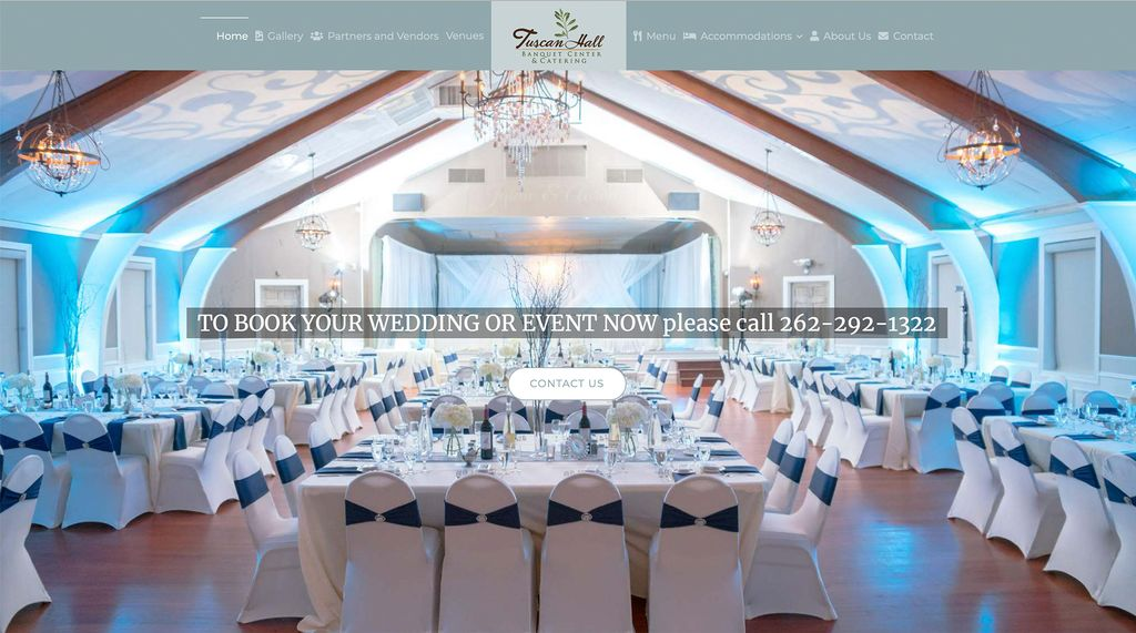 Tuscan Hall Banquet Hall Website