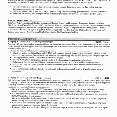 IT Resume Sample Page 1