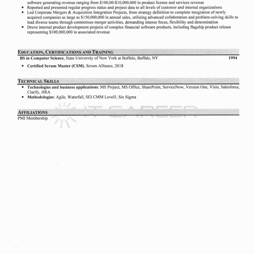 IT Resume Sample Page 2