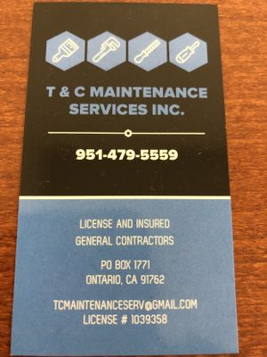 Avatar for T & C Maintenance Services Ontario, CA Thumbtack