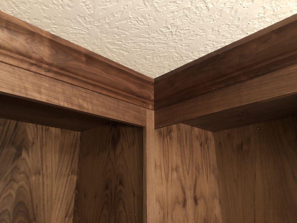 Walnut 12 foot closet