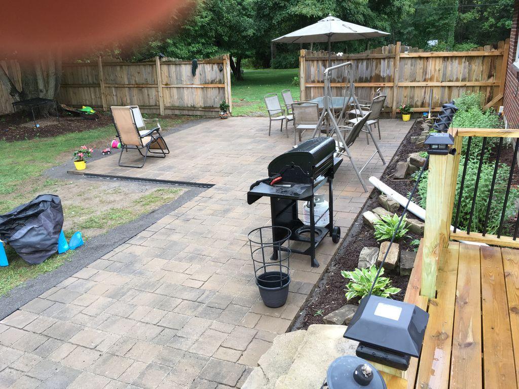 New patio area