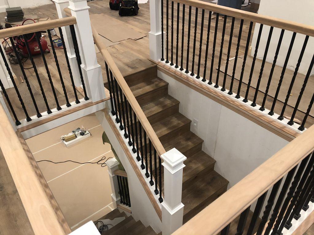Stair railings and trim