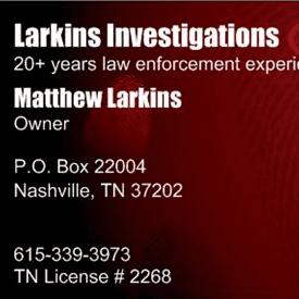 Avatar for Larkins Investigations Nashville, TN Thumbtack