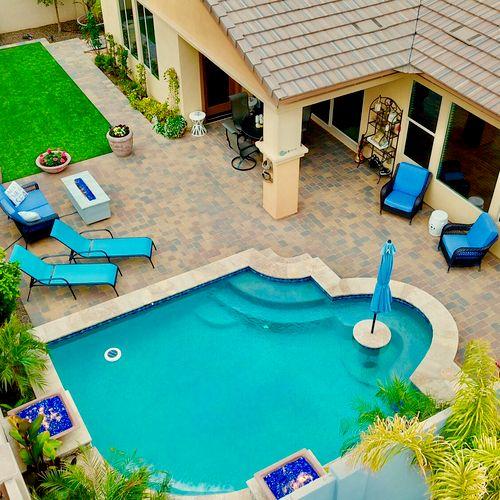 Residential Interior - Backyard (30 degree high angle oblique)