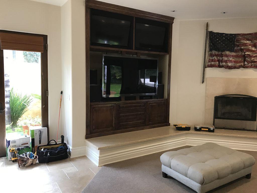 Custom multi TV setup with whole home audio