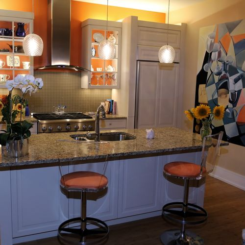 Color was a very important consideration as well as our custom art using the wine theme.