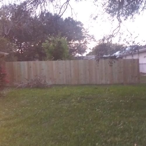 Over 50ft of fence