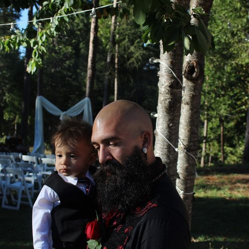 My brother and nephew when I photographed their wedding